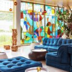 How stained glass get created for decorating rooms?